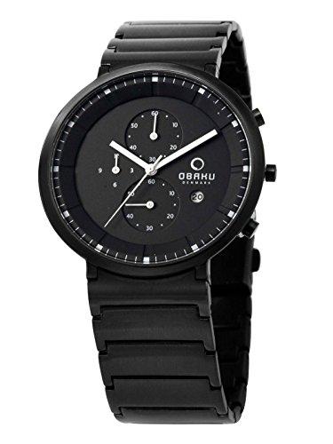 Obaku Denmark V147GBBSB1 - Orologio da uomo con data e cronometro
