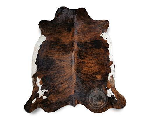 Teppich aus Kuhfell, Farbe: Schwarz Braun und Weiß 220 x 200 cm, Premium - Qualität von Pieles del Sol