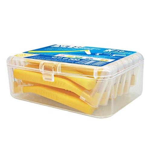 SUCHUANGUANG 20 Piezas Cepillo interdental en Forma de L Palillos de Dientes extrafinos Limpiador de Dientes Push Pull Cepillo interdental