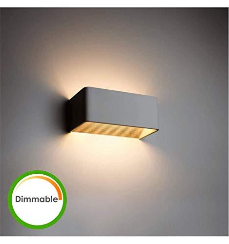 KOSILUM - Applique LED 6W Dimmable - Quadra 20 cm - Lumière Blanc Chaud Eclairage Salon Chambre Cuisine Couloir - 6W - 496 lm - LED intégrée - IP20