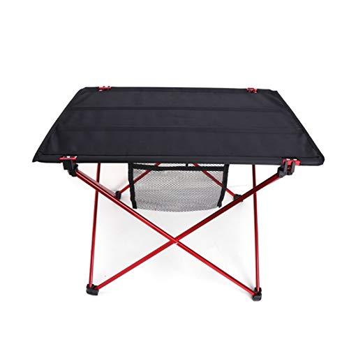 QIAOLI Al aire libre plegable ultraligero aleación de aluminio portátil camping picnic mesa para senderismo camping