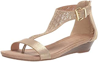 Kenneth Cole REACTION Women's City 3 T-Strap Low Wedge Sandal