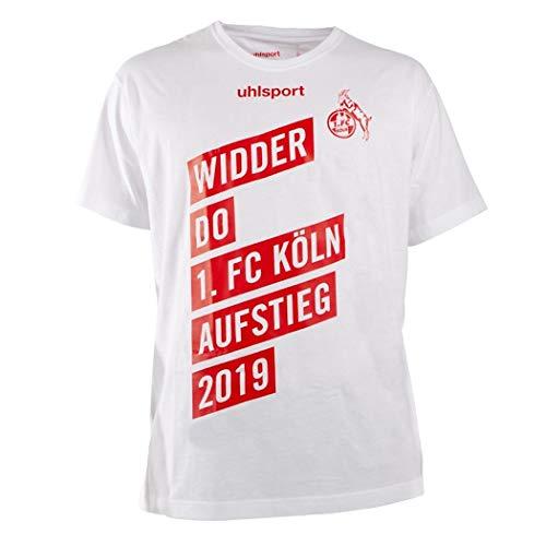 uhlsport Offizielles 1. FC Köln Aufstiegsshirt T-Shirt 2019 Widder DO Aufsteiger, Größe:S