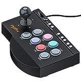 PS4/XBOX ONE/Nintendo switchに適用アーケードコントローラー PS3/PCに対応 アケコンん ESYWEN TURBO機能付きアーケードスティック MACRO機能付きストリートファイター 格闘ゲームに専門対応有線接続 パンドラボックス