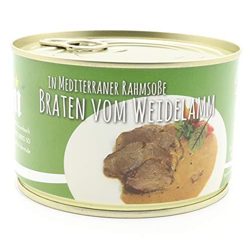 Diem Lammbraten in Mediterraner Rahmsoße vom Weidelamm Dose 400g / Braten / Sonntagsbraten / Lamm / Fleisch (17,00 € / Kg)