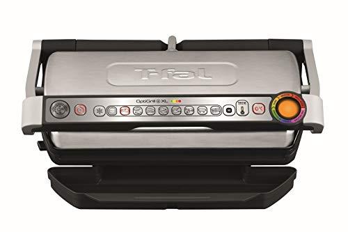 Tefal Optigrill XL GC722D - Plancha Grill 2000W, 9 modos de cocción y 4 temperaturas ajustables, indicador del progreso