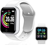 Smart Watch, Fitness Tracker with Heart Rate Monitor, Activity Tracker with 1.44 Inch Touch Screen,Waterproof,Sleep Monitor,Activity Tracker Pedometer for Women and Men,for iPhone Android (White)