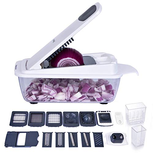 12-in-1 Vegetable Chopper, Ommani Food Chopper Cutter Multifunction Heavier Duty with...
