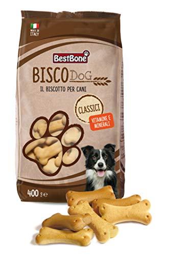 Bestbone Biscodog Classici Biscotti alla Vaniglia Gustosi e Croccanti per Cani Vitamina A, e E D3 Confezione da 400 Gr - 400 g