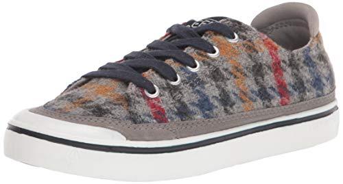 KEEN womens Elsa 4 Casual Sneaker, Grey Multi/White, 9 US
