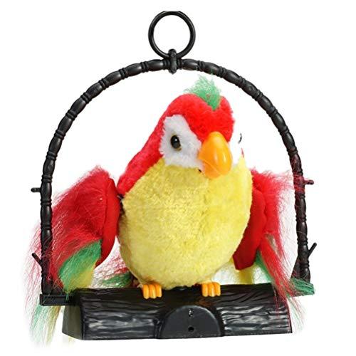 Macabolo elektronisch sprechender Papagei wiederholt was Sie Sagen, weiches Plüschtier Spielzeug mit Flügeln für Papageien für Kinder Weihnachten Geburtstag Geschenk