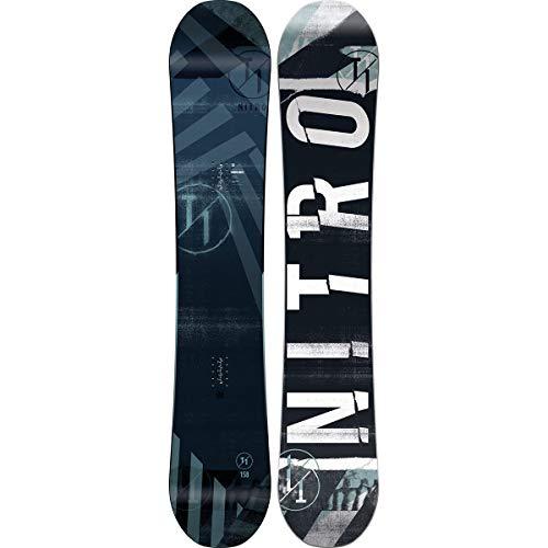 Nitro Snowboards Herren T1 Wide BRD'20 Premium Twin Camber Freestyle Boards für große Füße Snowboard, Mehrfarbig, 152 cm
