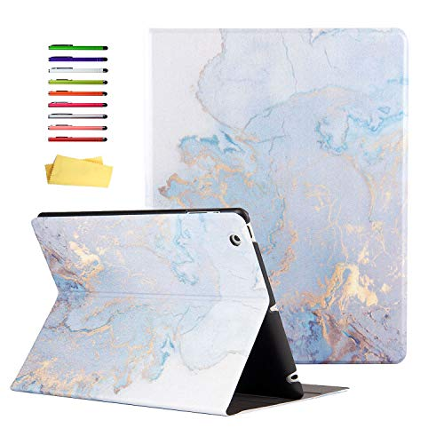 UUcovers Case for Apple iPad Mini 4 Tablet 2015 (Model A1538/A1550) 7.9 inch, Smart Folio Lightweight with Stand Stylus Pencil [Auto Sleep/Wake] Synthetic Leather TPU Back Shockproof Shell, Gold Map