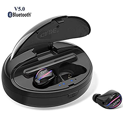 Bluetooth Headphones 5.0 Wireless Earbuds Noise Cancelling Bluetooth Earphones Waterproof 90 Hours Playtime with Charging Case Deep Bass Stereo Mic Sport In-Ear Earphones Compatible for IOS Android