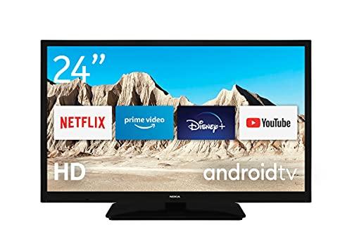 Nokia Mini Smart TV 24 Zoll Android TV (HD Ready, AV Stereo, WiFi, 12 Volt, Triple Tuner - DVB-C/S2/T2, Netflix, Prime Video, Disney+)