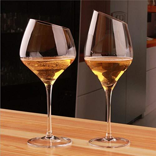 Crystal Taza de Vino Tinto Oblicua Vidrio de Vino Rojo de Cristal de Alta pie Boer Ordinaria Vidrio Vino de Borgoña Copa Copa Cerveza,600ml