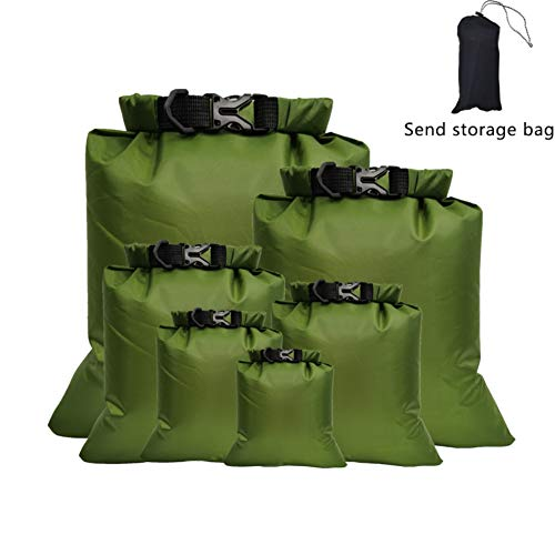 Yalatan 5PCS Bolsa Seca Impermeable, para Kayak, Rafting, Paseos en Bote, Natación, Camping, Senderismo, Playa,