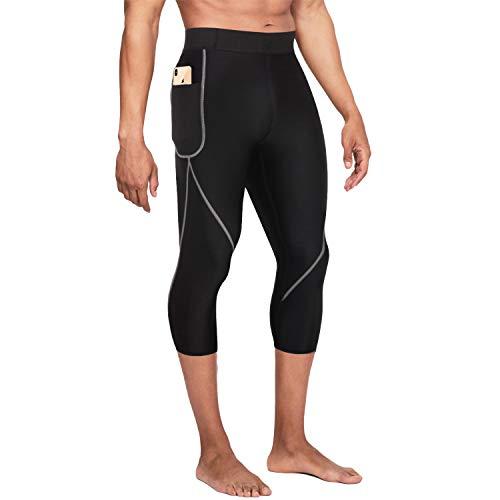 Bingrong Pantalones para Adelgazar Hombre Pantalón de Sudoración Adelgazar Pantalones de Neopreno para Ejercicio para Pérdida de Peso Deportivo (Negro, XL)