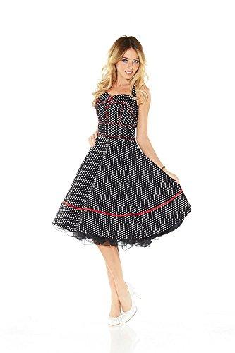 50er Jahre Rockabilly Kleid INKLUSIVE PETTICOAT Vintage Retro Polka Dot – Patsy - 3