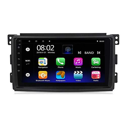 BIEKANNM Navegación GPS Reproductor Multimedia de 9 Pulgadas para Benz Smart Fortwo 2005-2010, Android 8.1 Doble DIN/BT/WiFi/Mirrorlink/SWC/Cámara de visión Trasera,8core-WiFi: 1+16G