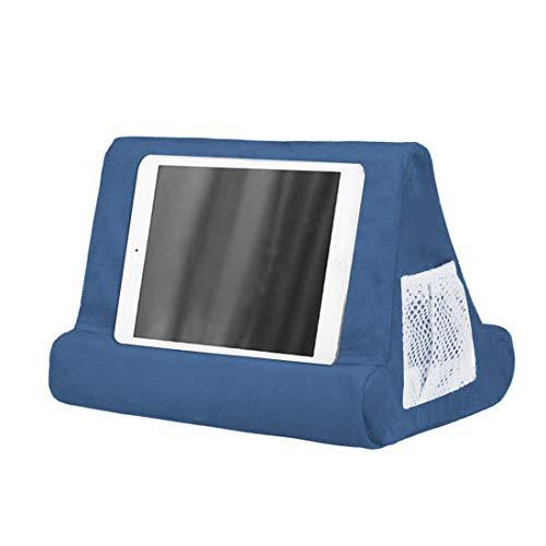 MoneRiffi - Tablet con soporte, soporte para iPad y tablet, soporte multiángulo para cojines para tablets, reproductores de libros digitales