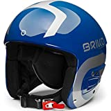Briko Vulcano Fis 6.8 Junior Casco de esquí/Snow, Juventud Unisex, Shiny Blue-Silver, 56 cm
