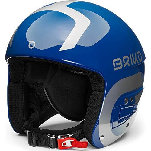 Briko Vulcano Fis 6.8 Junior Casco de esquí/Snow, Juventud Unisex, Shiny Blue-Silver,...
