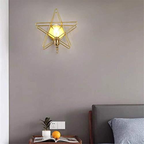 CC6 plafondlamp Nordic koper vijfpuntige ster muur lamp Aisle trap gang slaapkamer nachtkastje messing sterren achtergrond muur gouden lampen