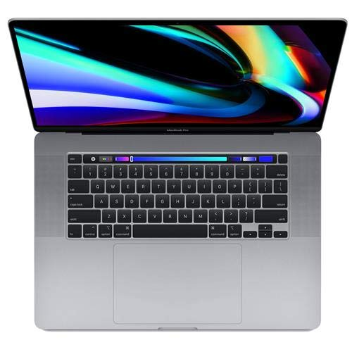 Apple 16' MacBook Pro with Touch Bar, 9th-Gen 6-Core Intel Core i7 2.6GHz, 32GB RAM, 512GB SSD, AMD Radeon Pro 5300M 4GB, Space Gray, Late 2019
