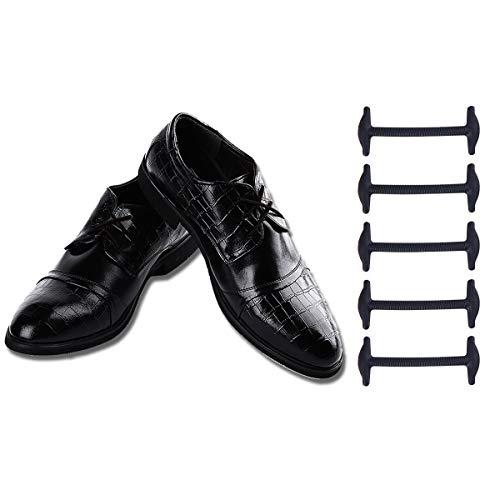Shackcom sin Corbata Cordones de Zapatos para Adultos Cordones de Zapatos de cuero Cordones Elásticos zapatillas de Silicona Plano Impermeables de los Zapatos del Tablero Sneaker Boots leather shoes