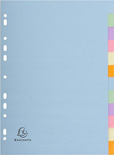 Exacompta Forever einfarbige Trennblätter, verschiedene Pastellfarben, 12-teilig