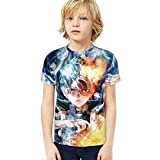 Narpult My Hero Academia Youth Short Sleeve Tops Tee Kids T-Shirt for Teen Boys and Girls NO.1-X-Small