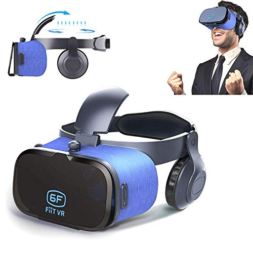 Mengen88 Universal Virtual Reality 3D VR Bril VR Headset Compatibel, Comfortabel Speel Je voor VR Games, 3D Films Goggles W/Eye Protection
