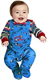 Baby Boys Girls Chucky Halloween Doll Film Fancy Dress Costume Outfit… (9-12 months)