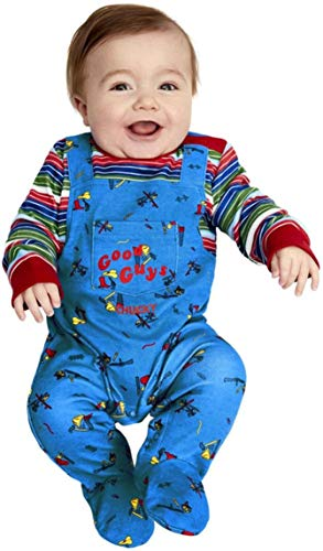 Baby Boys Girls Chucky Halloween Doll Film Fancy Dress Costume Outfit… (3-6 Months)
