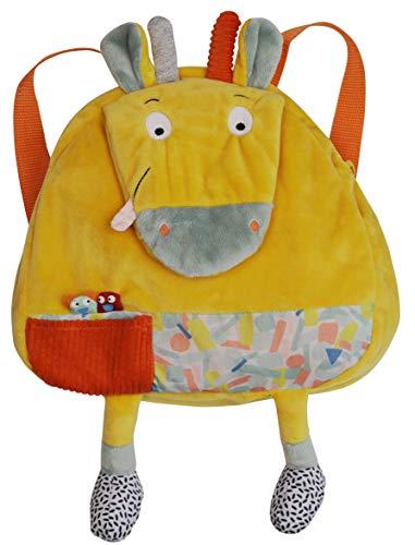 Ebulobo – Rucksack, Motiv: Die Giraffe – Kollektion Jungle Boogie – Tasche mit Reißverschluss – sehr weiches Material – Französisches Design