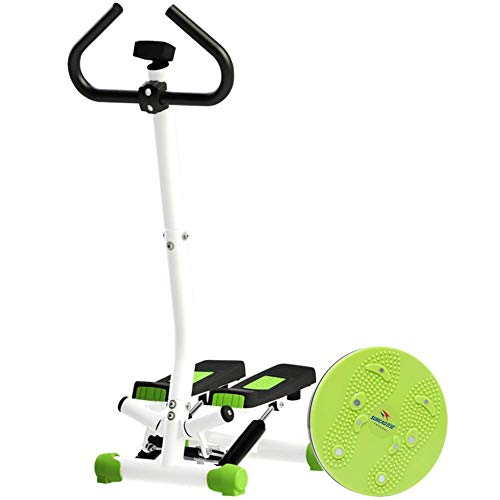 DSHUJC Adjustable Fitness Twist Stepper With Handlebarmini Stair Stepper For Home Usemultifunction Cardio Training Exercise Equipment A 405x35x110cm16x14x43inch