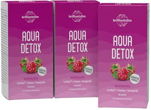 Brilliantslim Aqua Detox - Drenaje natural Diurético y Detox Tee - 3 bolsas de 10 unidades, suficiente para 30 días