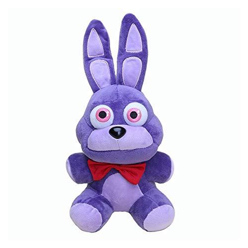 JUNMAIDZ Juguete de Peluche 18 cm FNAF Purple PELUMINA PESTURA Bonnie PELUMING Toys Cinco Noches en Fredy Bonnie Peluche Toys Muñecas de Peluche Suaves (Color : Old Bonnie, Height : 18cm)