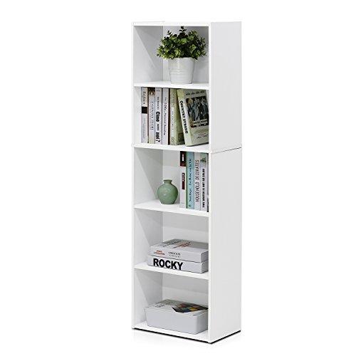 Furinno 11055 5-Tier Reversible Color Open Shelf Bookcase (2 Pack)