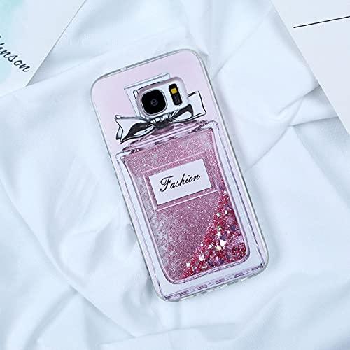 DEIOKL Quicksand Glitter Case para Samsung Galaxy A10 A20 A20E A30 A40 A50 A60 A70 M10 M20 M30 Dynamic Liquid Funda para teléfono, Botella de Perfume, para A70