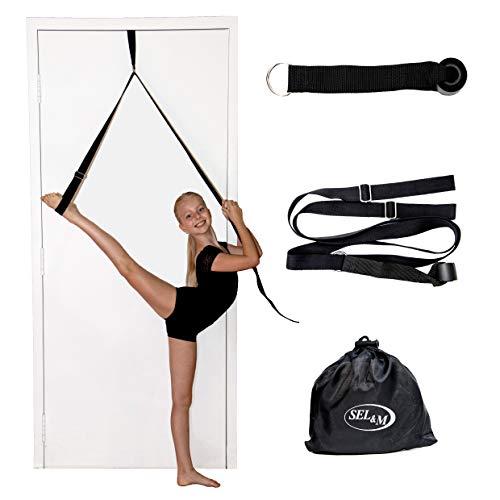 SEL & M Leg Stretching Strap – Easy to Use Ballet Stretch Band - Great Dance Equipment, Gymnastics Leg Stretcher, Door Stretch Strap for Flexibility Improvement.