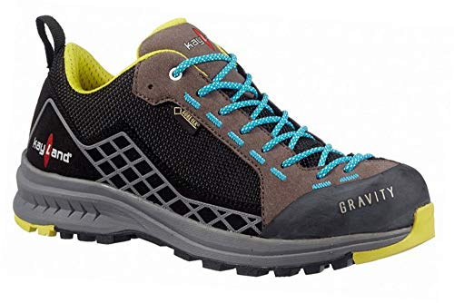 Kayland Shoes Unisex Outdoor Multisport Gravity GTX Black-Azule - 37