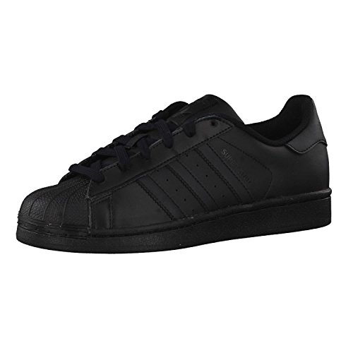 adidas Superstar Foundation Shoes, Scarpe da Ginnastica Uomo, Nero Core Black/Core Black/Core Black 724, 37 1/3 EU