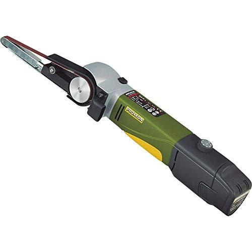 Proxxon 29810 29 810 Schleifmaschine/Bandschleifer BS/A und 4 Schleifbänder, Li-Ionen-Akku und Schnellladegerät, Hauptgehäuse aus glasverstärktem, 2,6 Ah, 10,8 V, 10.8 V