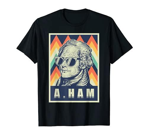 Retro Vintage Alexander Hamilton T-Shirt mit Sonnenbrille T-Shirt