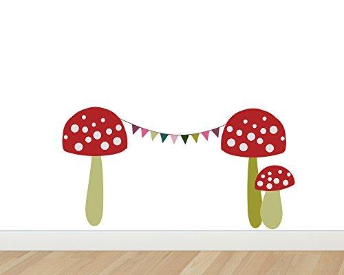TinyFoxes Wandtattoo Fliegenpilze für die Wichteltür im Kinderzimmer