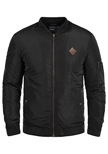!Solid Park Herren Bomberjacke Übergangsjacke Jacke Mit Stehkragen, Größe:L, Farbe:Black (9000)