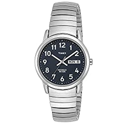 Timex Men's T20031 Easy Reader Silver-Tone Expansion Band Watch