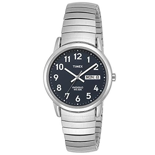 Timex reloj pulsera para hombres, con día y fecha y lectura sencilla